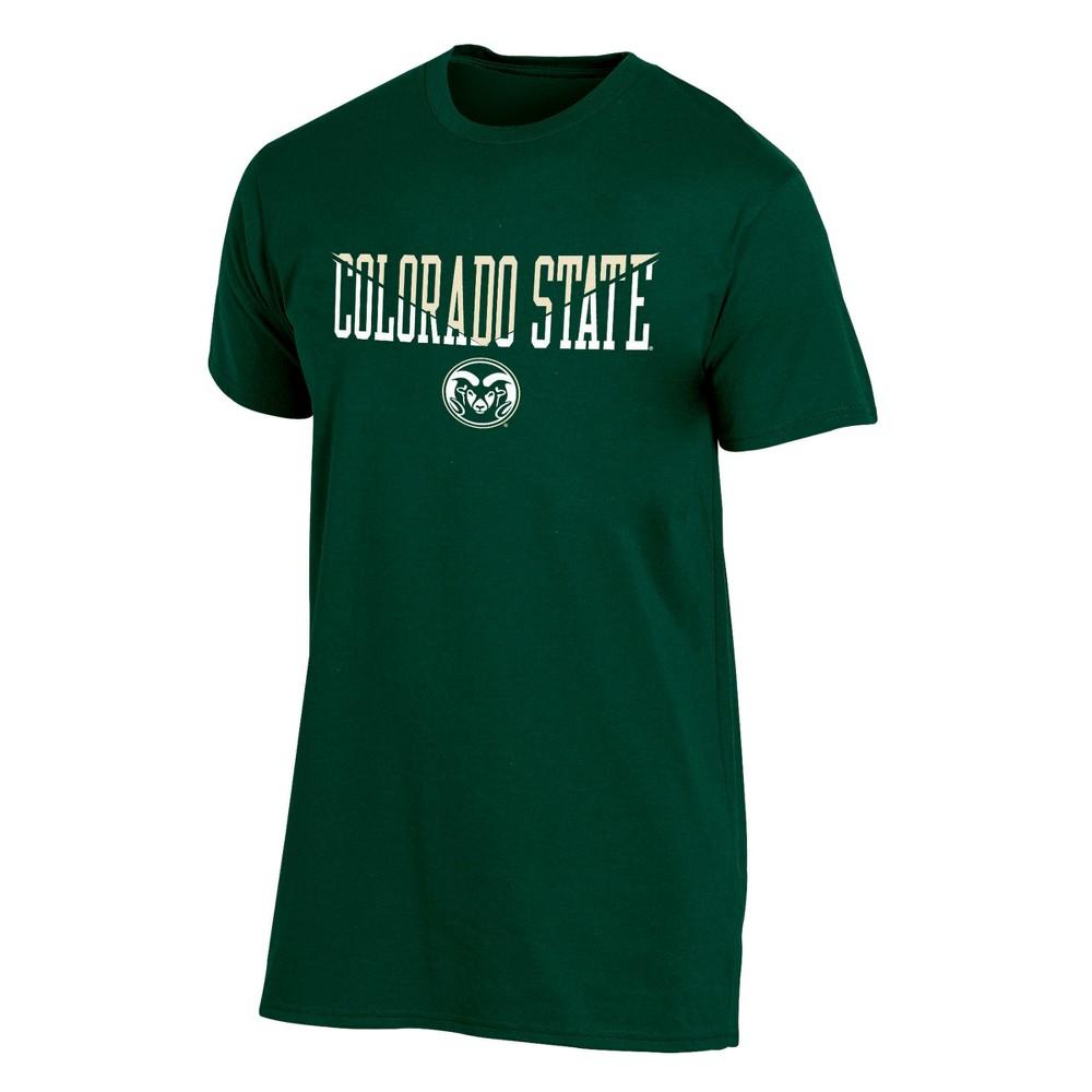 Colorado State Rams Men's Short Sleeve Core Wordmark T-Shirt - Heather S, Multicolored