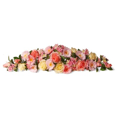 """Spring Flowers Artificial Swag Pink 33"""" - National Tree Company"""