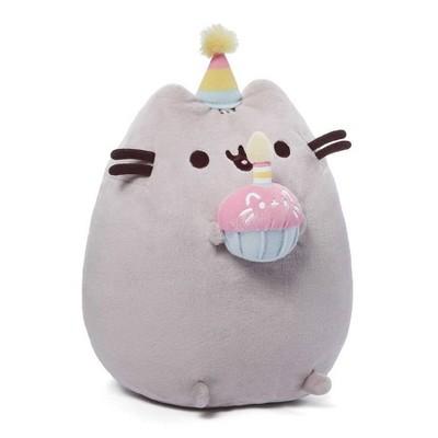 "GUND Pusheen Snackables 10.5 "" Birthday Cupcake Plush Stuffed Animal - Gray"