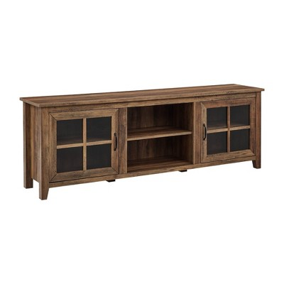"""Tasi Glass Door Console TV Stand for TVs up to 80"""" - Saracina Home"""