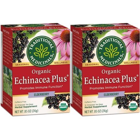 Traditional Medicinals Echinacea Plus Elderberry Organic Tea - 32ct - image 1 of 2