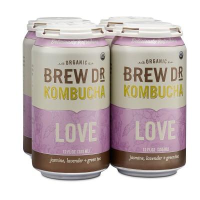 Brew Dr. Kombucha Love - 12 fl oz Cans/4pk