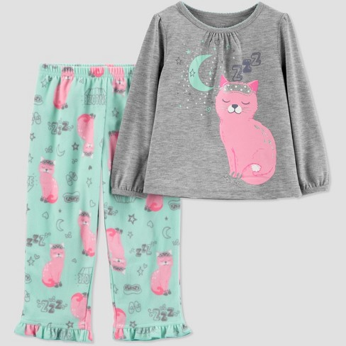 569511557cc6 Toddler Girls  Cat 2pc Pajama Set - Just One You® Made By Carter s ...