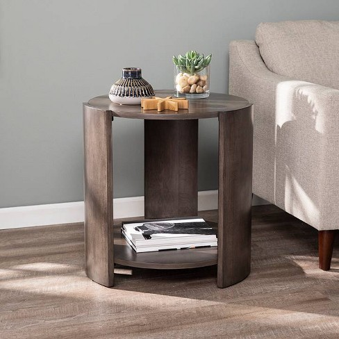 Arken Round Contemporary End Table