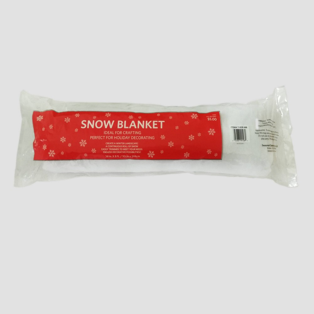 Image of 3ft x 8ft Christmas Faux Snow Roll, White