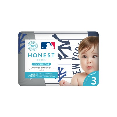 Honest Company Diapers, New York Yankees - Size 3 (34ct)