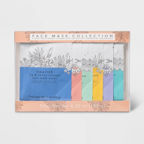 Face Mask Sheet Set - 6.35oz - 6pc - Target Beauty™ - image 1 of 2