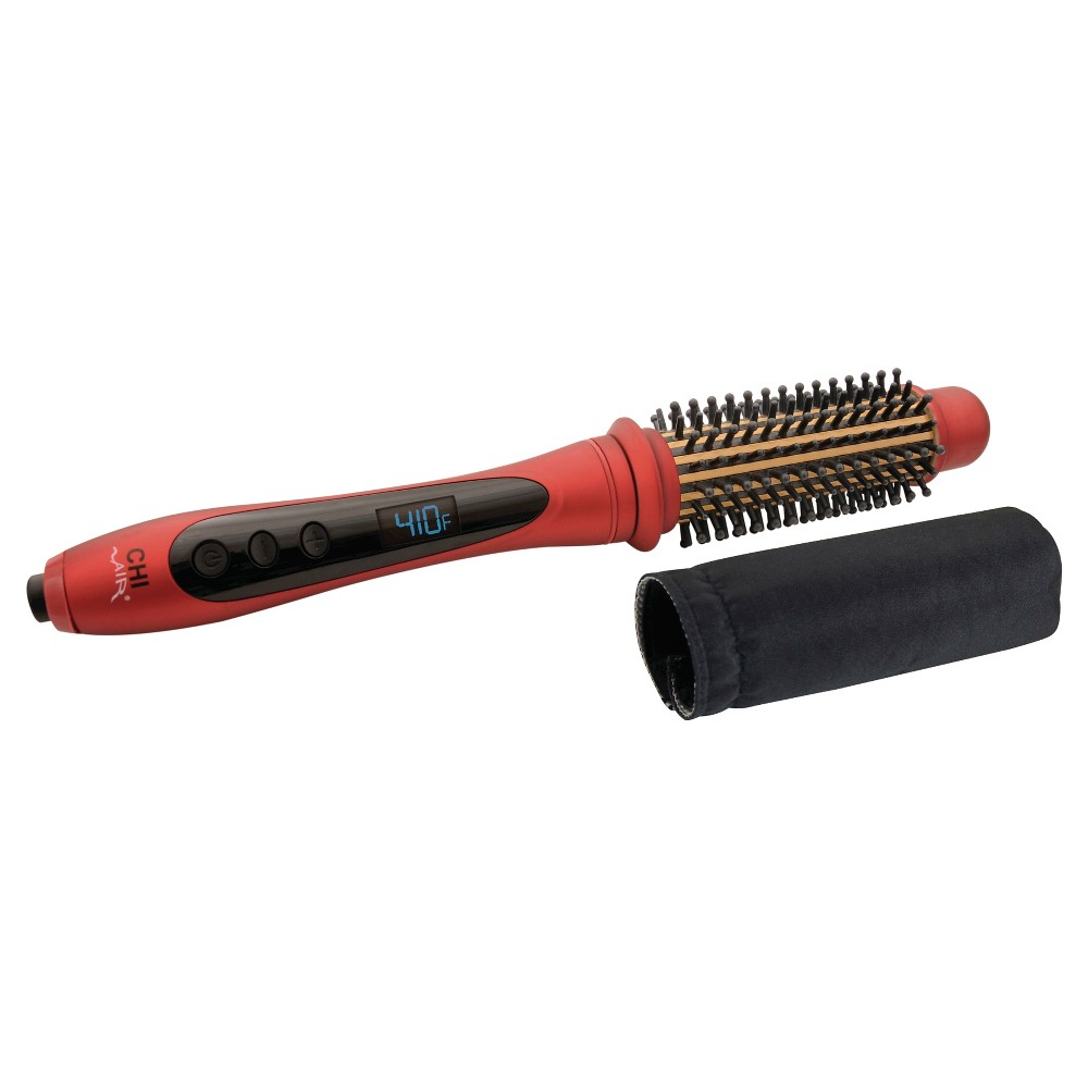 Chi Air Tourmaline Ceramic Heated Round Brush and Thermal Sleeve 1 1/4, Red