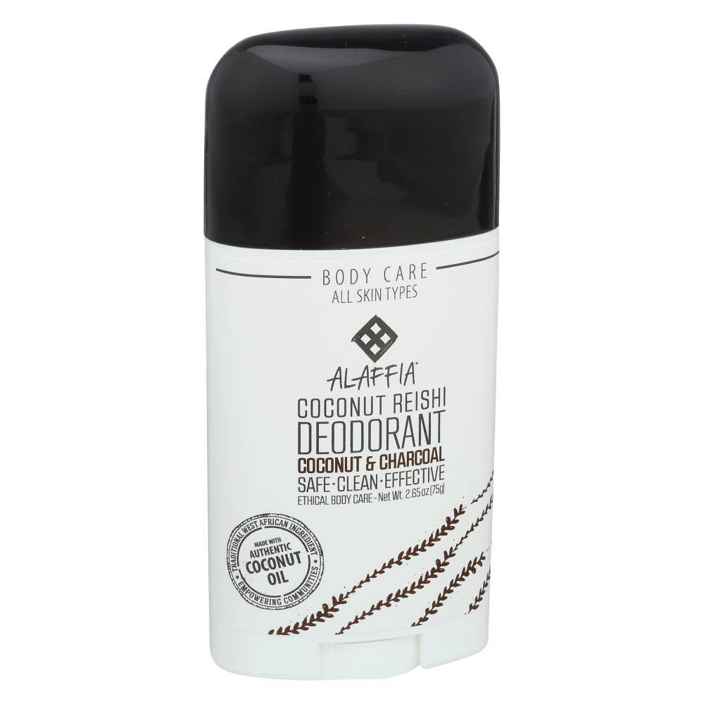Image of Alaffia Coconut & Charcoal Coconut Reishi Deodorant - 2.65oz