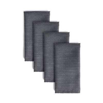 "4pk 20""X20"" Harper Napkins Gray - Town & Country Living"