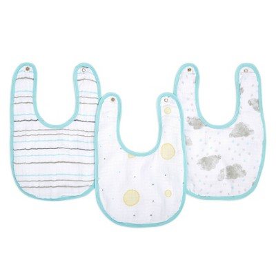 Aden By Aden + Anais Essentials Water Resistant Snap Bib Master - Partly Sunny - 3pk