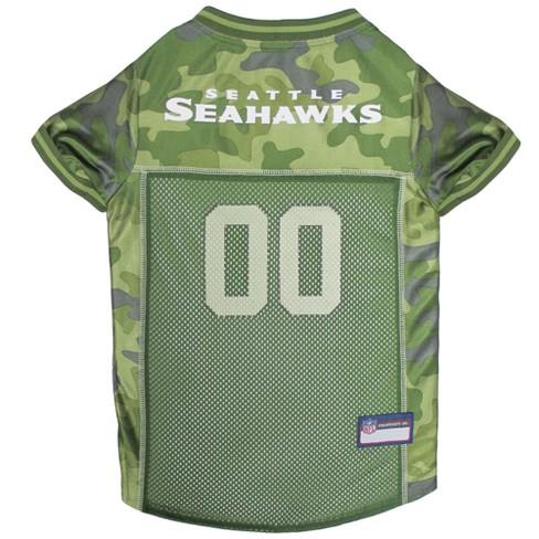 3786925dd NFL Pets First Camo Pet Football Jersey - Seattle Seahawks   Target