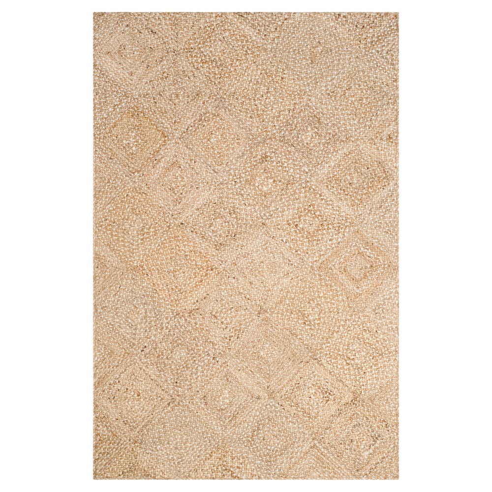 Natural Geometric Woven Area Rug - (6'X9') - Safavieh, White