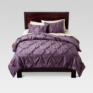 Lavender Pinched Pleat Comforter Set (Full/Queen) 3pc - Threshold , Purple