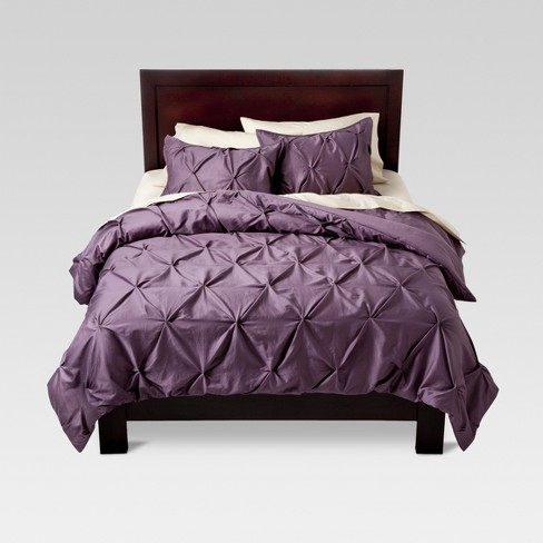 Lavender Pinched Pleat Comforter Set King 3pc