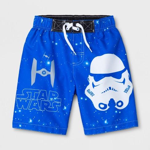 26951d754f Boys' Star Wars Stormtrooper Swim Trunks - Blue : Target