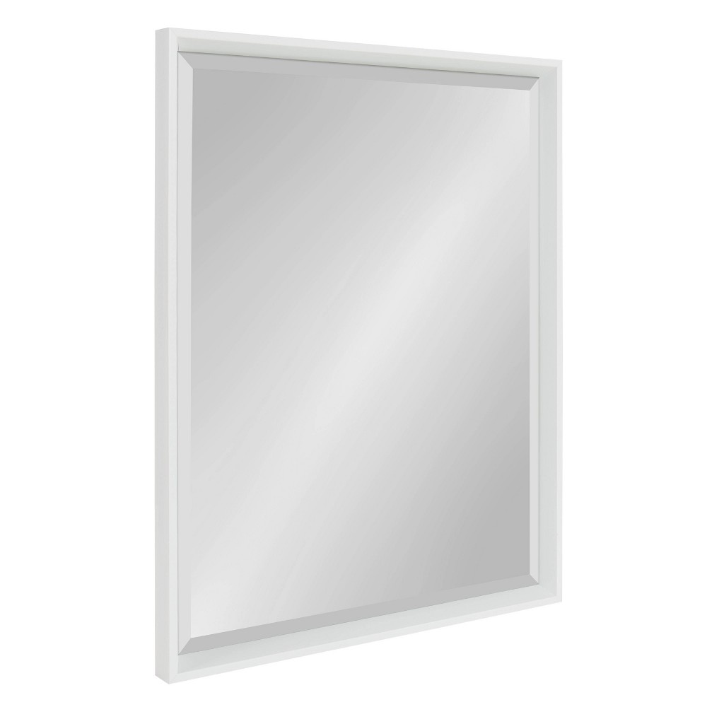 """Image of """"23.5""""""""x29.5"""""""" Calter Framed Wall Mirror White - Kate and Laurel"""""""