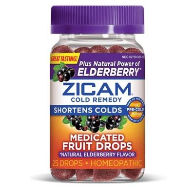 Zicam Medicated Fruit Drops - Elderberry - 25ct