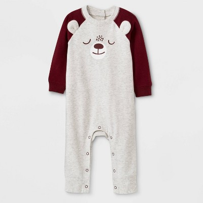 Baby Boys' Bear Romper - Cat & Jack™ Heather Gray 0-3M