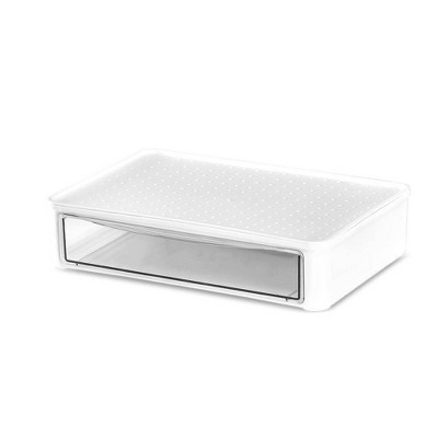 Solid Stackables Utility Storage Bin Slide Drawer White - Madesmart