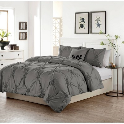 Queen London Quilt Set Gray - VCNY Home