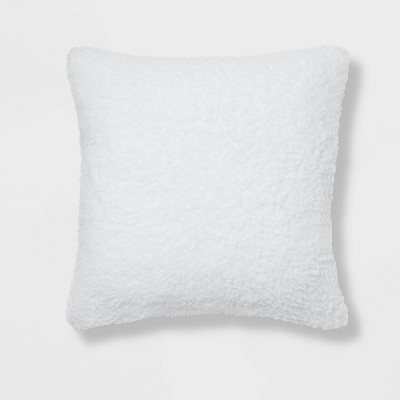 Sherpa Square Pillow White - Room Essentials™