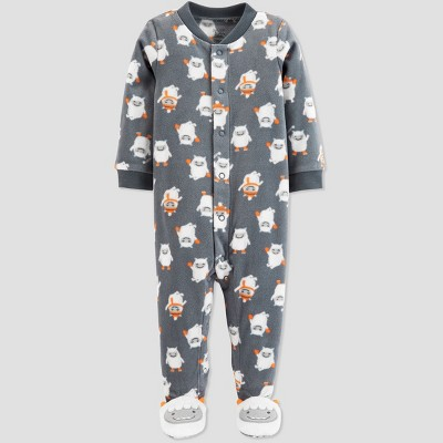 Baby Boys' Yeti Microfleece Sleep 'N Play - Just One You® made by carter's Gray 3M