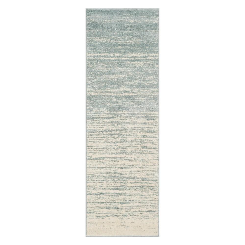 2'6X12' Ombre Design Runner Slate/Cream (Grey/Ivory) - Safavieh