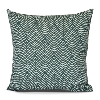 Green/White Lifeflor Print Pillow Navy Throw Pillow (16 x16 )- E by Design