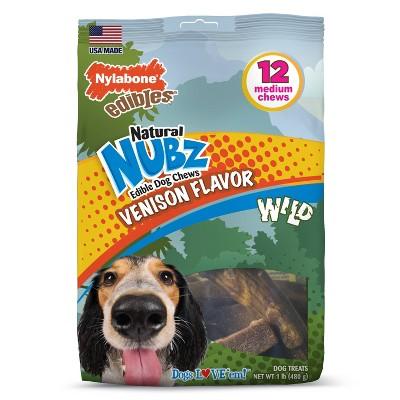 Nylabone Nubz Small/Medium Antler Dental Chews Venison Flavored Dog Treats - 12ct