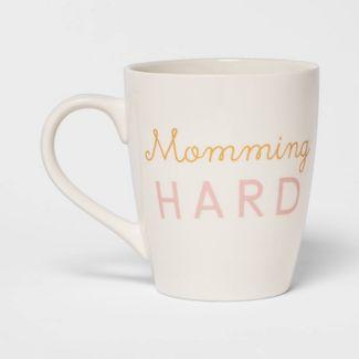 50oz Stoneware Momming Hard Giant Mug White - Threshold™