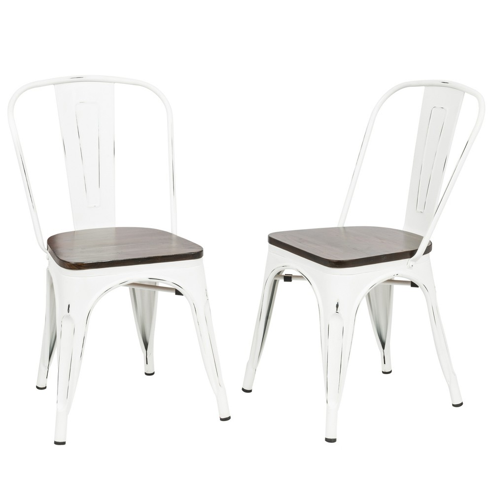 Reed Stacking Chairs Set of 2 Matte White - Carolina Chair and Table, Matt White
