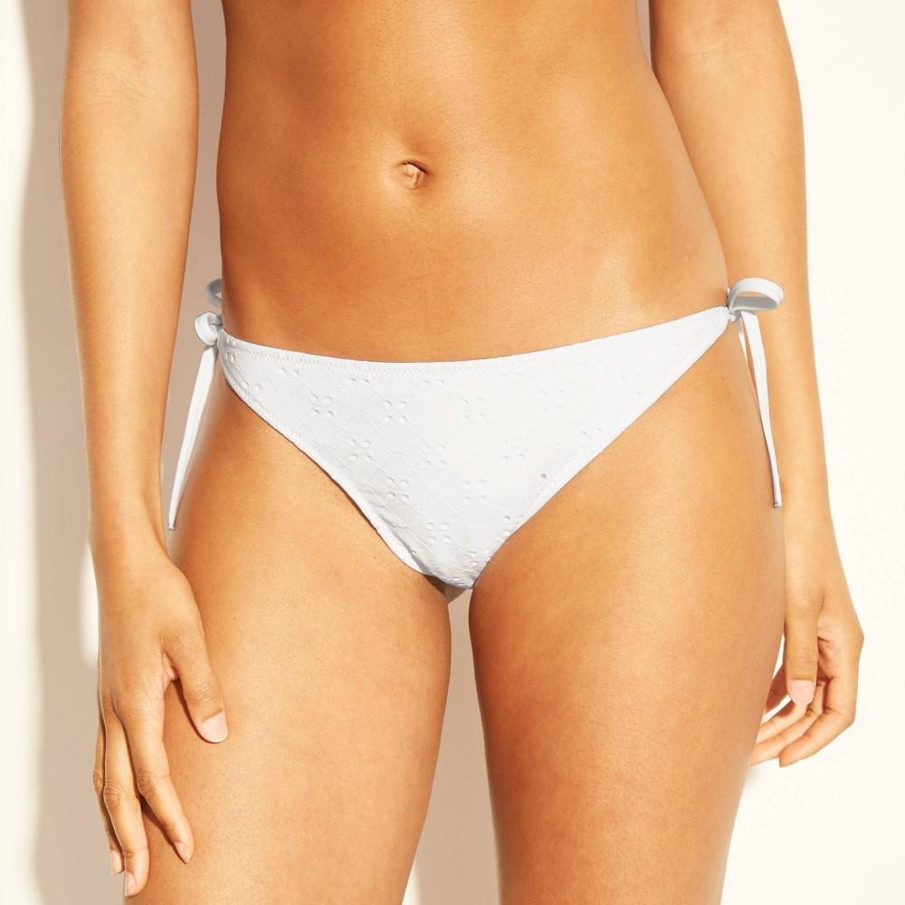 f48f32e6a9 Womens Sun Coast Cheeky Eyelet String Bikini Bottom Shade Shore White XS