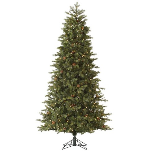 7.5ft Pre-Lit Artificial Christmas Tree Full Woodbury - Clear Lights - image 1 of 2