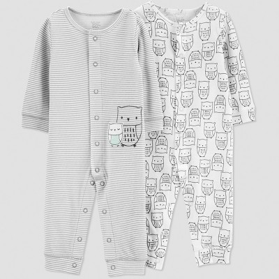 Baby Boys' 2pk Jumpsuit - Just One You® made by carter's Gray Newborn