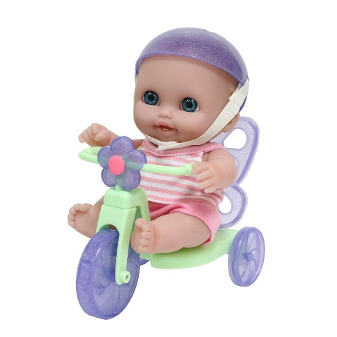 """JC Toys Lil' Cutesies 8.5"""" All Vinyl Baby Doll with Tricycle - image 1 of 1"""