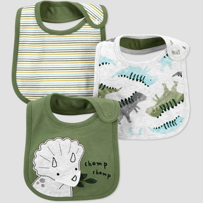 Baby Boys' 3pk Dino Bib Set - Just One You® made by carter's Green