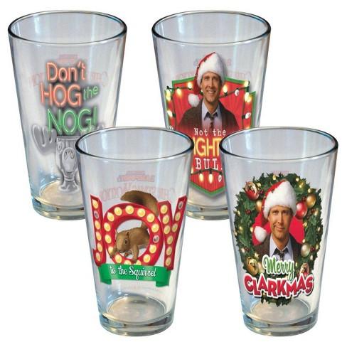 National Lampoon 16oz 4pk Holiday Lights Pint Glasses - image 1 of 4