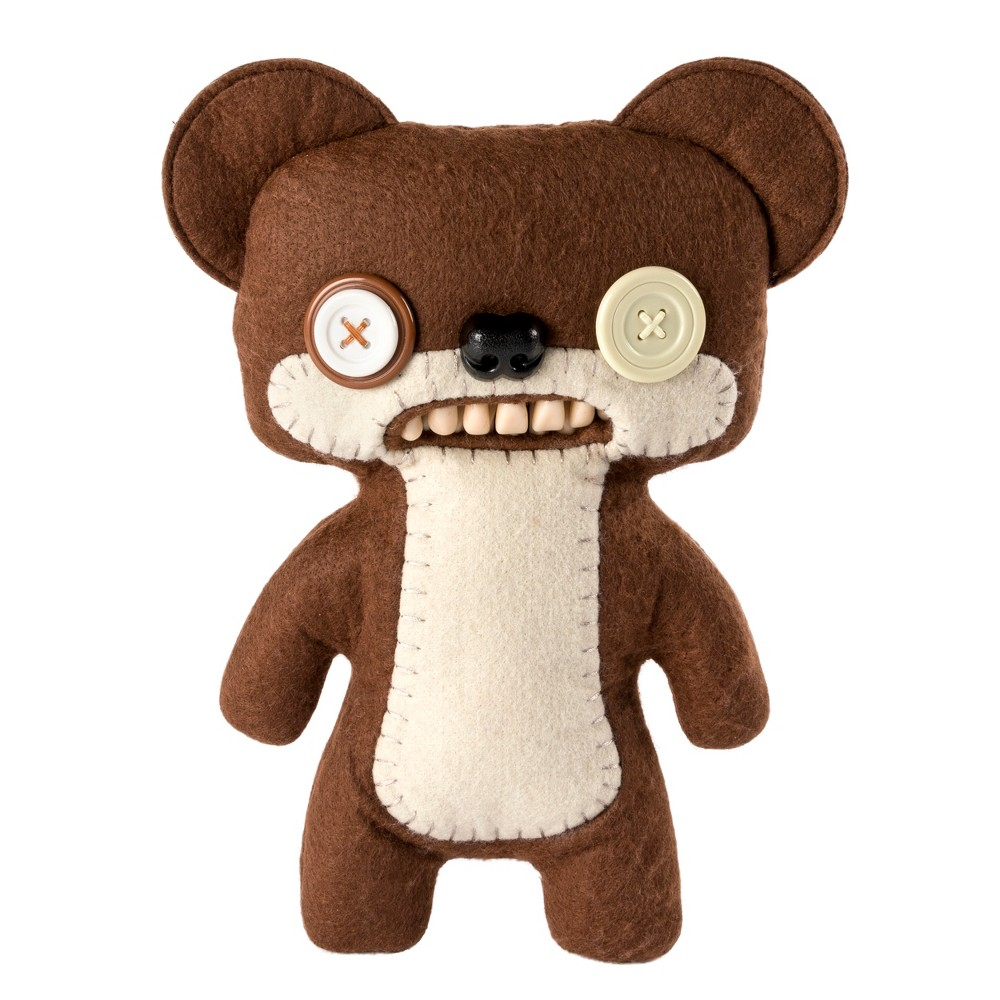 Fuggler Funny Ugly Monster 9 Teddy Bear Nightmare Plush Creature with Teeth - Brown
