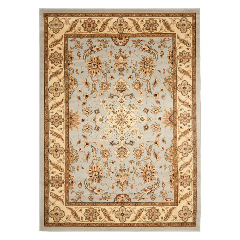 8'X11' Floral Loomed Area Rug Gray/Beige - Safavieh