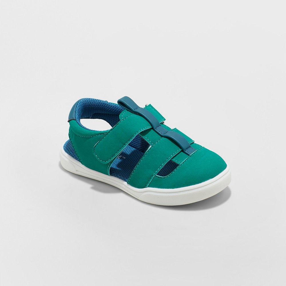 Image of Toddler Boys' London Fisherman Sandals - Cat & Jack Green 11, Boy's