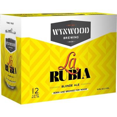Wynwood La Rubia Blonde Ale Beer - 12pk/12 fl oz Cans