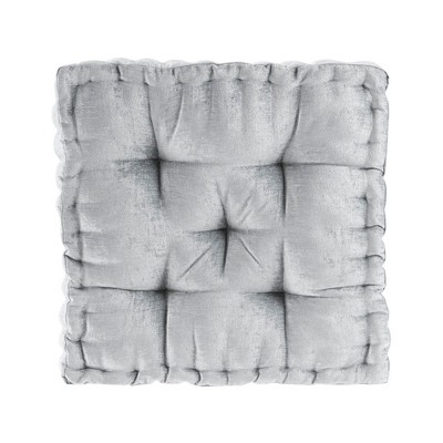 Gray Square Floor Pillow Cushion (20 x20 )