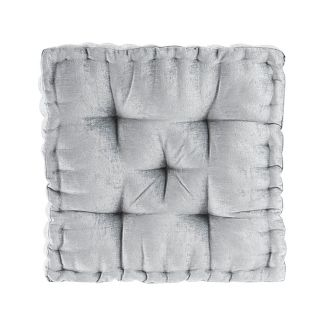 Gray Square Floor Pillow Cushion (20u0022x20u0022)