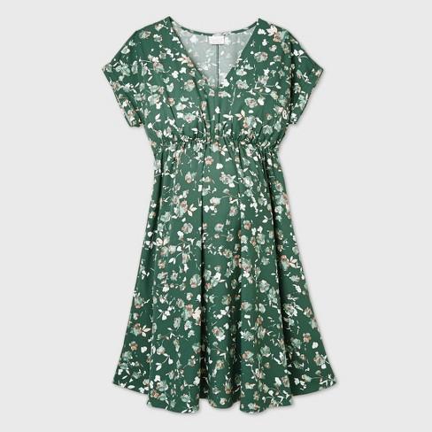 Short Sleeve Crepe Maternity Dress - Isabel Maternity by Ingrid & Isabel™ - image 1 of 2