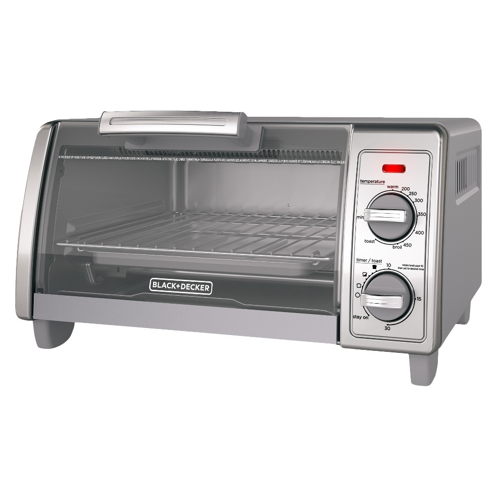 Image of BLACK+DECKER 4 Slice Toaster Oven Stainless Steel TO1700SG
