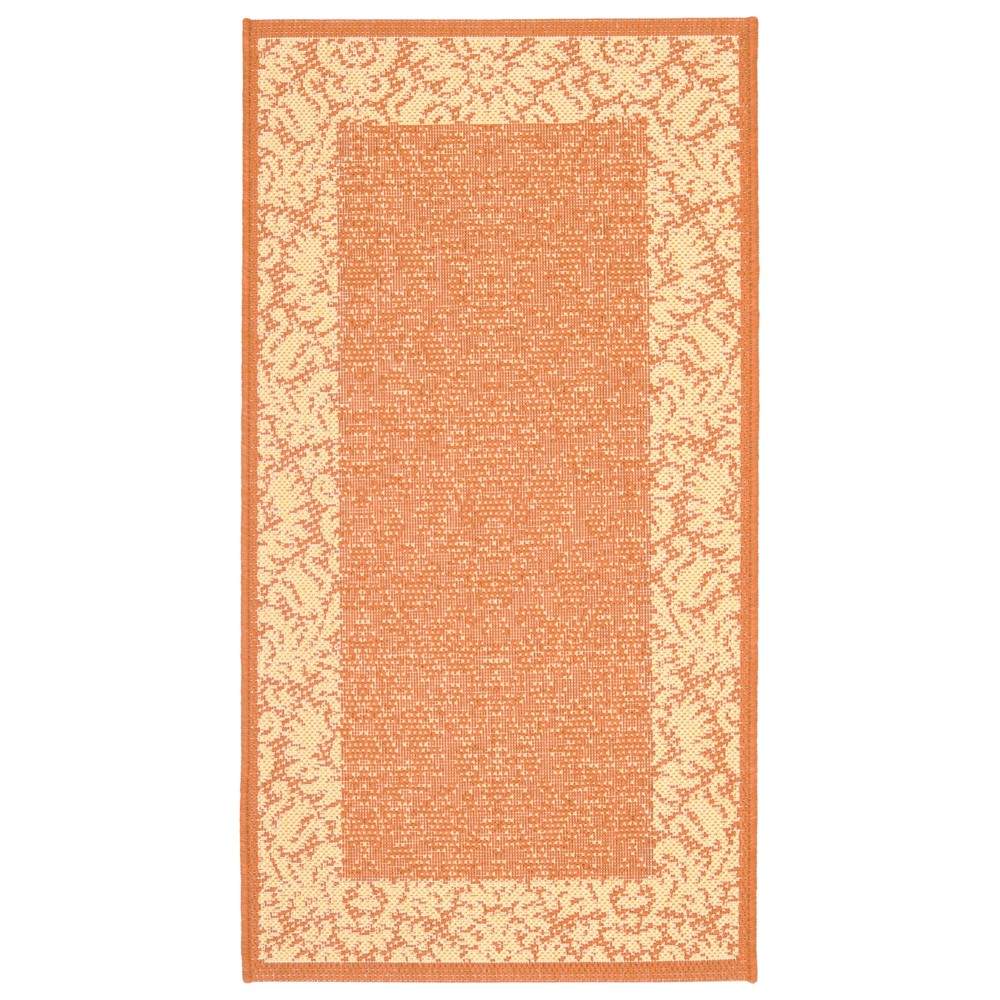 Violetta Rectangle 2'7 X 5' Outdoor Rug - Terracotta / Natural - Safavieh, Terracotta/Natural