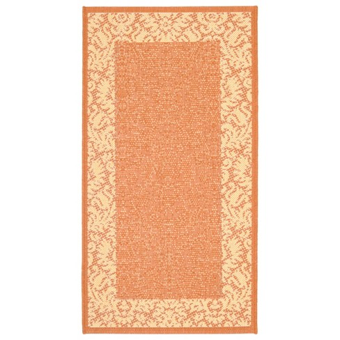 "Violetta Rectangle 2' X 3'7"" Outdoor Rug - Terracotta / Natural  - Safavieh® - image 1 of 3"