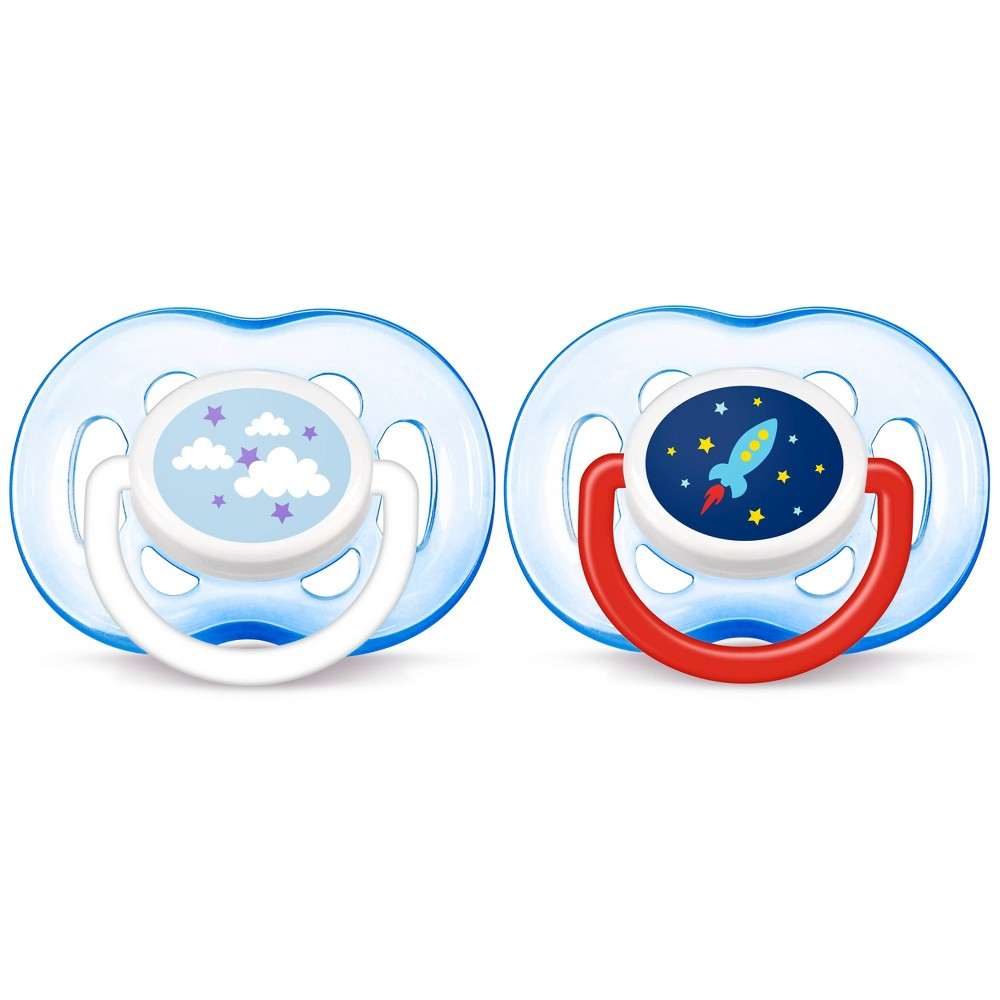 Image of Philips Avent Freeflow Pacifier 18m+ - Blue 2pk