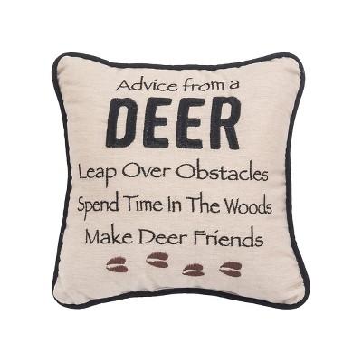 """C&F Home 10"""" x 10"""" Advice From A Deer Pillow"""